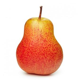 Pera roja aislada en blanco