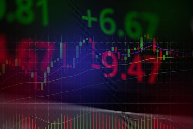 Pérdida de cambio del mercado de valores análisis gráfico de análisis indicador de inversión gráfico de negocios gráficos crisis stock crash rojo gráfico de precios caída