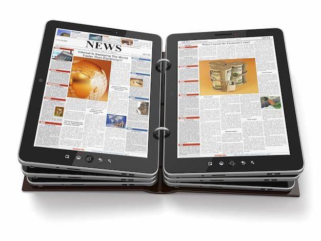 Periódico o revista desde tablet pc.