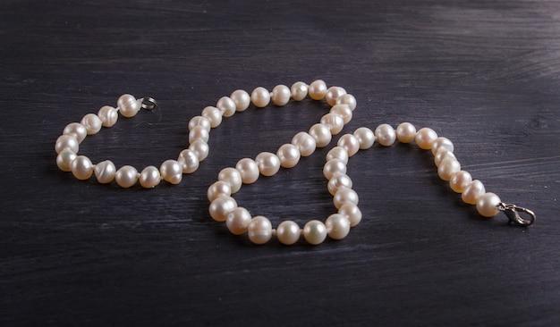 Perlas de color caramelo