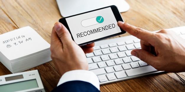 Permiso de aprobación de la asignación recomendada reconocida