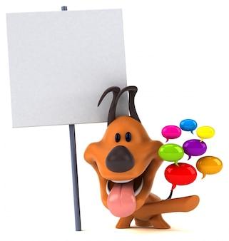 Perro divertido - ilustración 3d