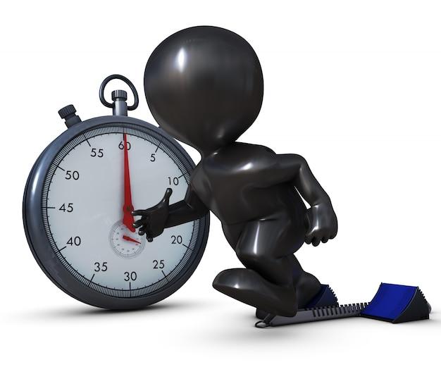 Persona corriendo con un cronómetro