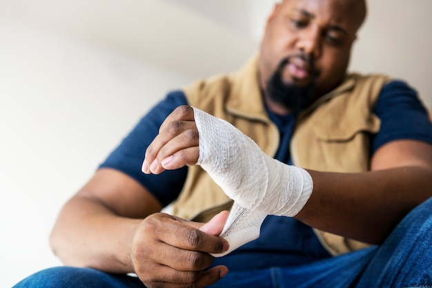 Una persona lesionada