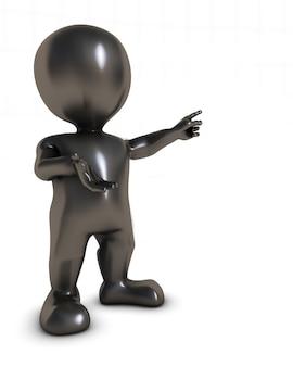 Persona señalando con el dedo
