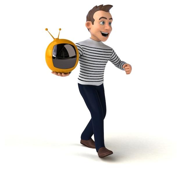 Personaje casual de dibujos animados divertido