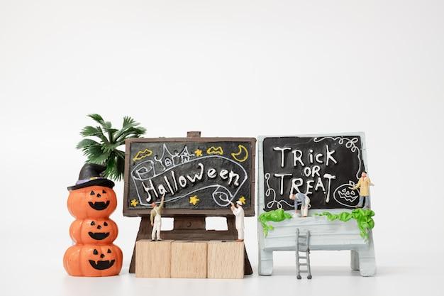 Personas en miniatura para colorear accesorios de fiesta de halloween