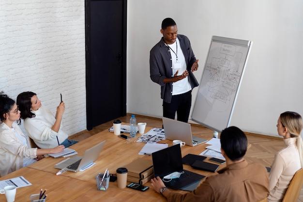 Personas de plano medio en reunión
