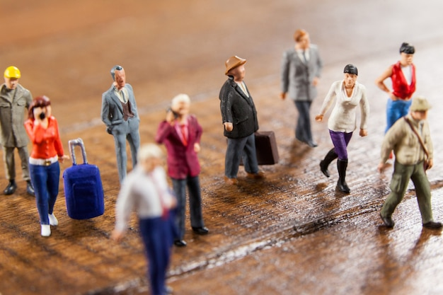 Las personas que viajan en miniatura