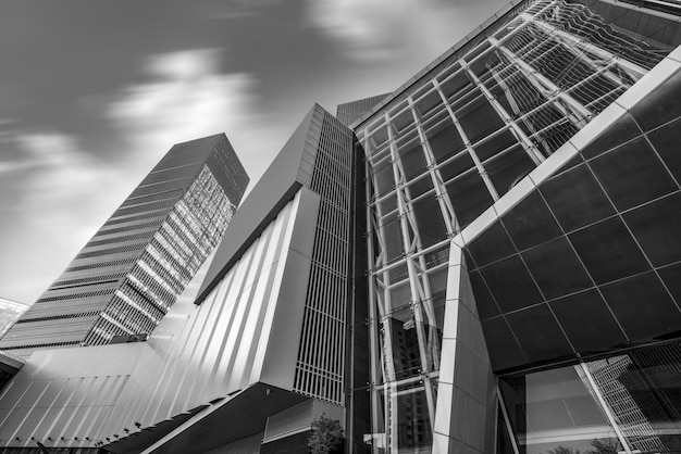 Perspectiva personal del paisaje urbano contemporáneo de la oficina de arquitectura