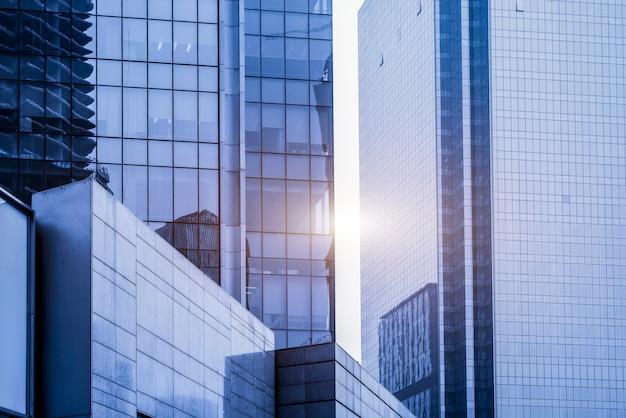 Perspectiva personal del paisaje urbano de oficinas arquitectónicas contemporáneas