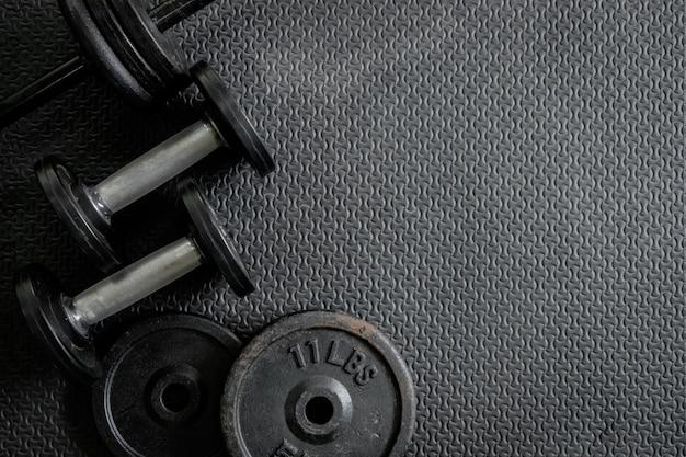Pesas de ejercicio - mancuernas de hierro con placas extra