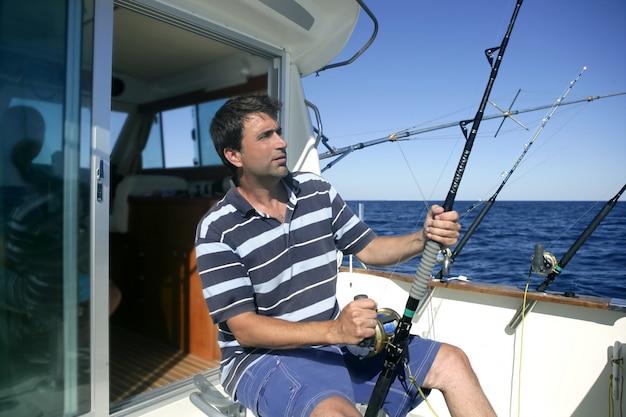 Pescador pescador de pesca de agua salada