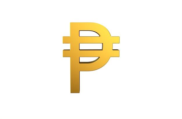 Peso filipino símbolo de moneda en 3d