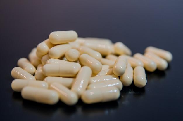 Pharmacy.pills. medicina y salud. cierre de cápsulas.