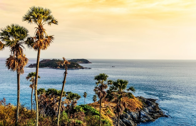 Phuket sceni mar en tailandia