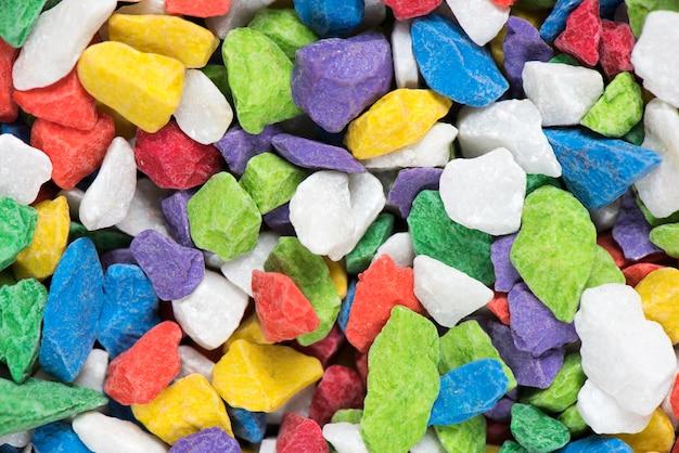 Piedra de mármol colorida