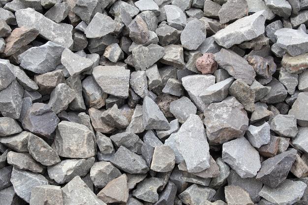 Piedra. materiales de construcción de piedra triturada.