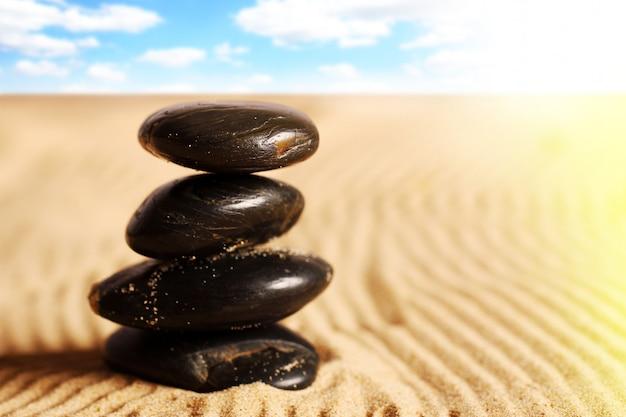 Piedras en la arena