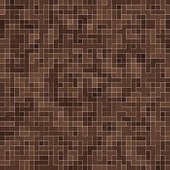 Piedras cerámicas de colores. mosaico de cerámica abstracto de la textura de mosiac marrón liso abstracto adornado edificio. resumen de patrones sin fisuras.