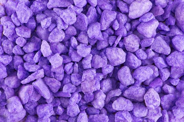 Piedras de fondo lila