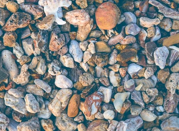 Piedras de mar de guijarros