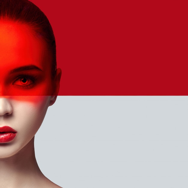 Piel perfecta perfecta y maquillaje natural, cuidado de la piel.