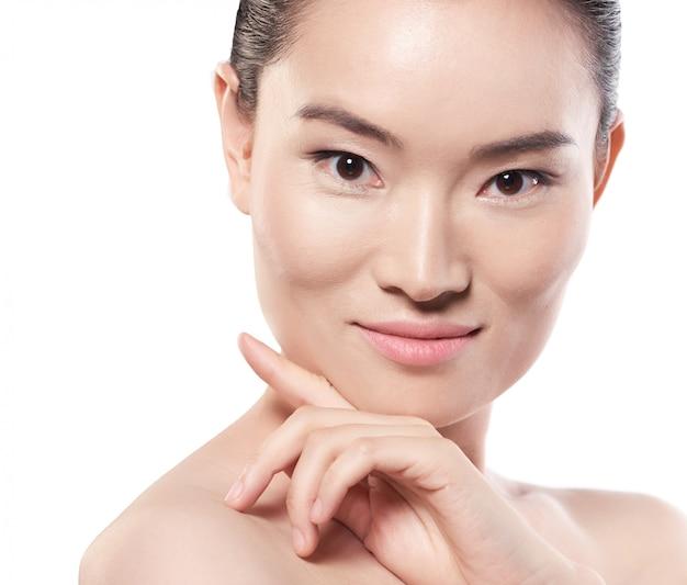 Piel suave. belleza asiática