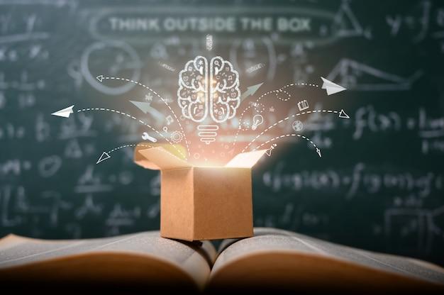 Piensa fuera de la caja en la escuela