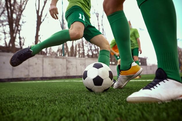 Las piernas del futbolista