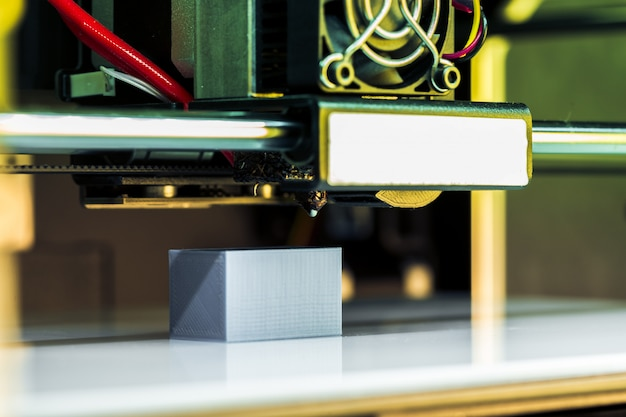 Pieza de impresión 3d blanca