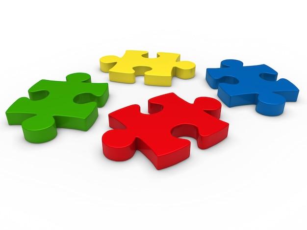Piezas de ajedrez de colores