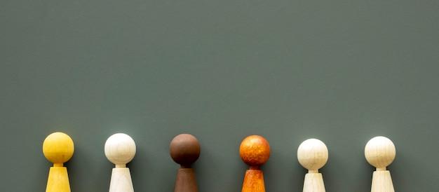 Piezas de ajedrez con espacio de copia