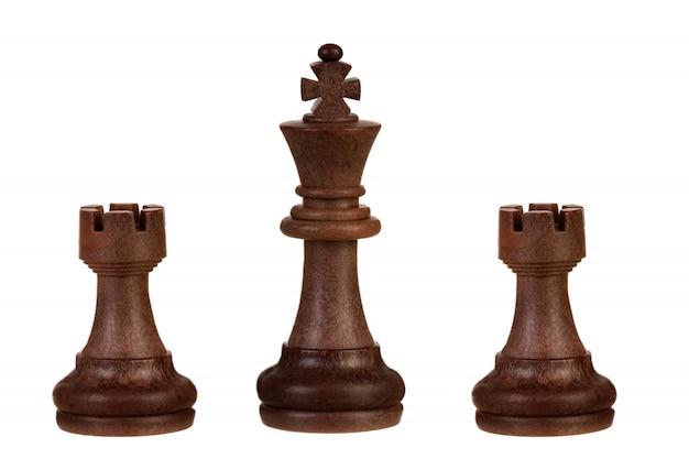 Piezas de ajedrez marron