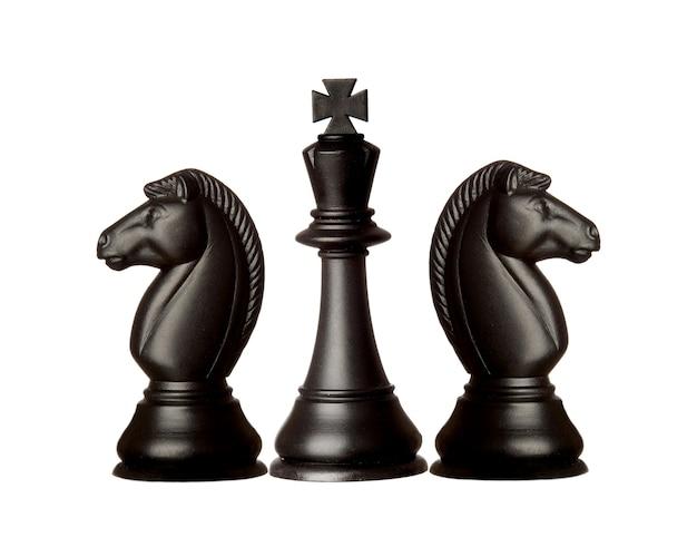 Piezas de ajedrez negras