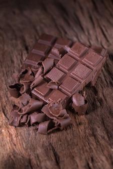 Piezas de barra de chocolate