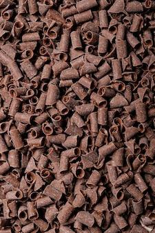 Piezas de chocolate negro