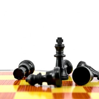 Piezas estrategia de tablero de ajedrez de competencia jaque mate