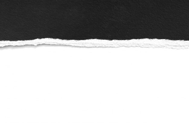 Piezas de textura de papel rasgado en blanco, copia espacio.