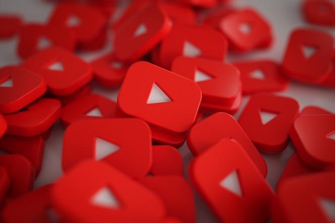 Pila de botones de juego 3d logos