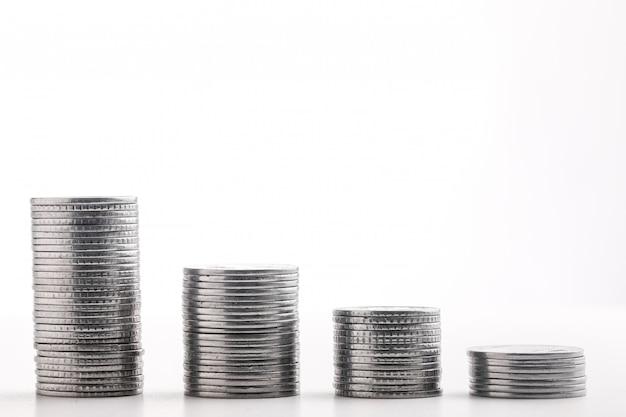 Pila de moneda india en monedas
