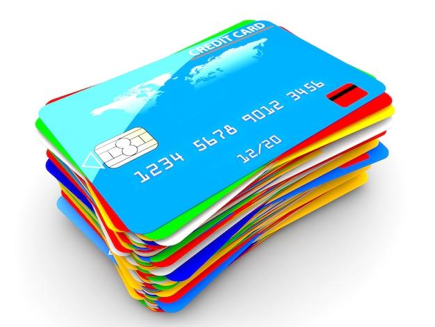 Pila de tarjetas de credito
