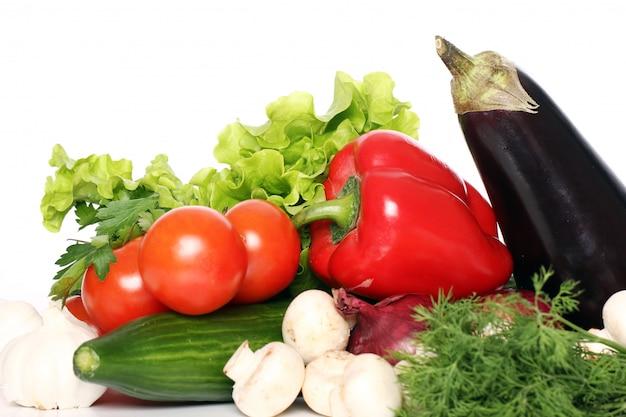 Pila de verduras frescas