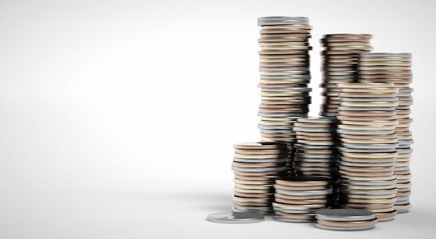 Pilas de monedas