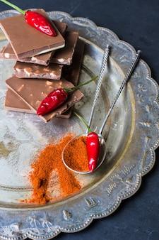 Pimiento rojo chocolate y especias