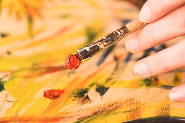 Pincel manchado pintanto