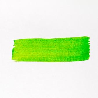 Pincel verde línea acuarela pintada