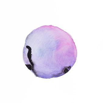 Pincel violeta acuarela con tinta china.