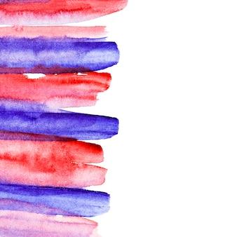 Pincelada pintada a mano roja y azul