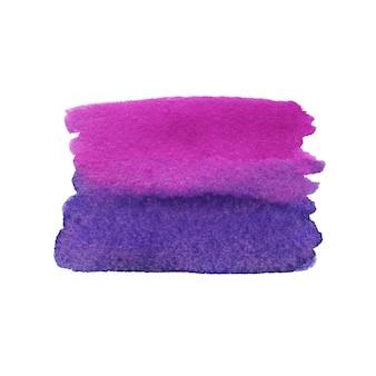 Pincelada pintada de púrpura. textura de acuarela.